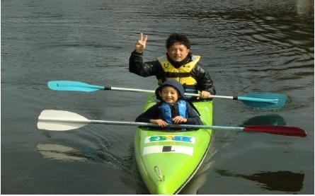 秋のカヌー試乗体験