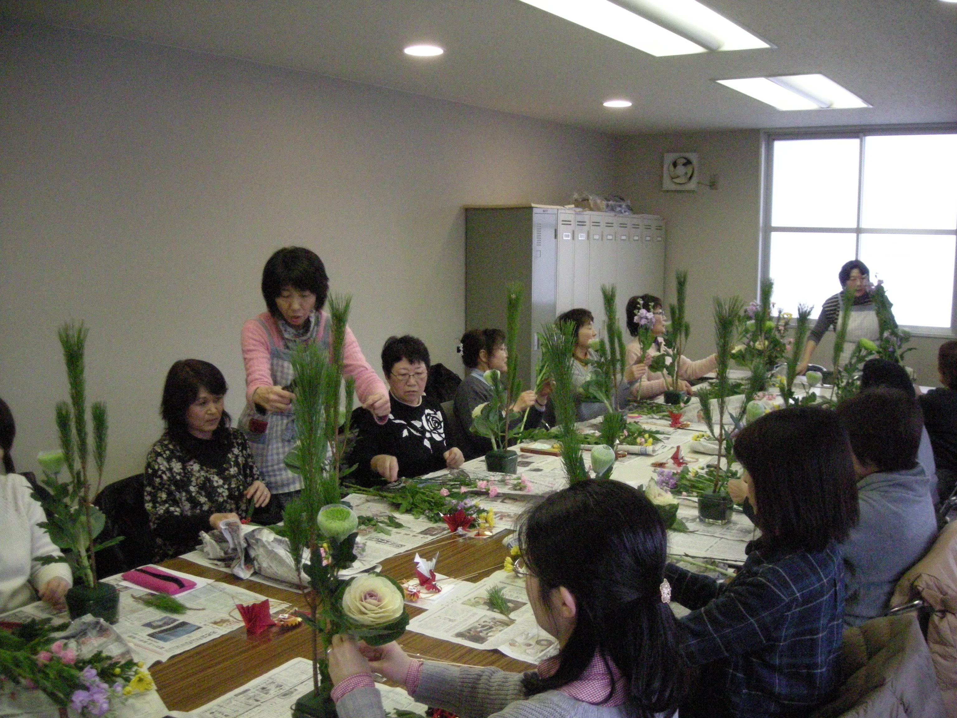 フラワーアレンジメント体験教室