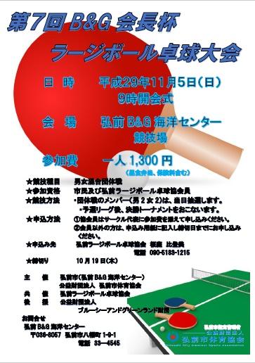 第7回B&G会長杯ラージボール卓球大会