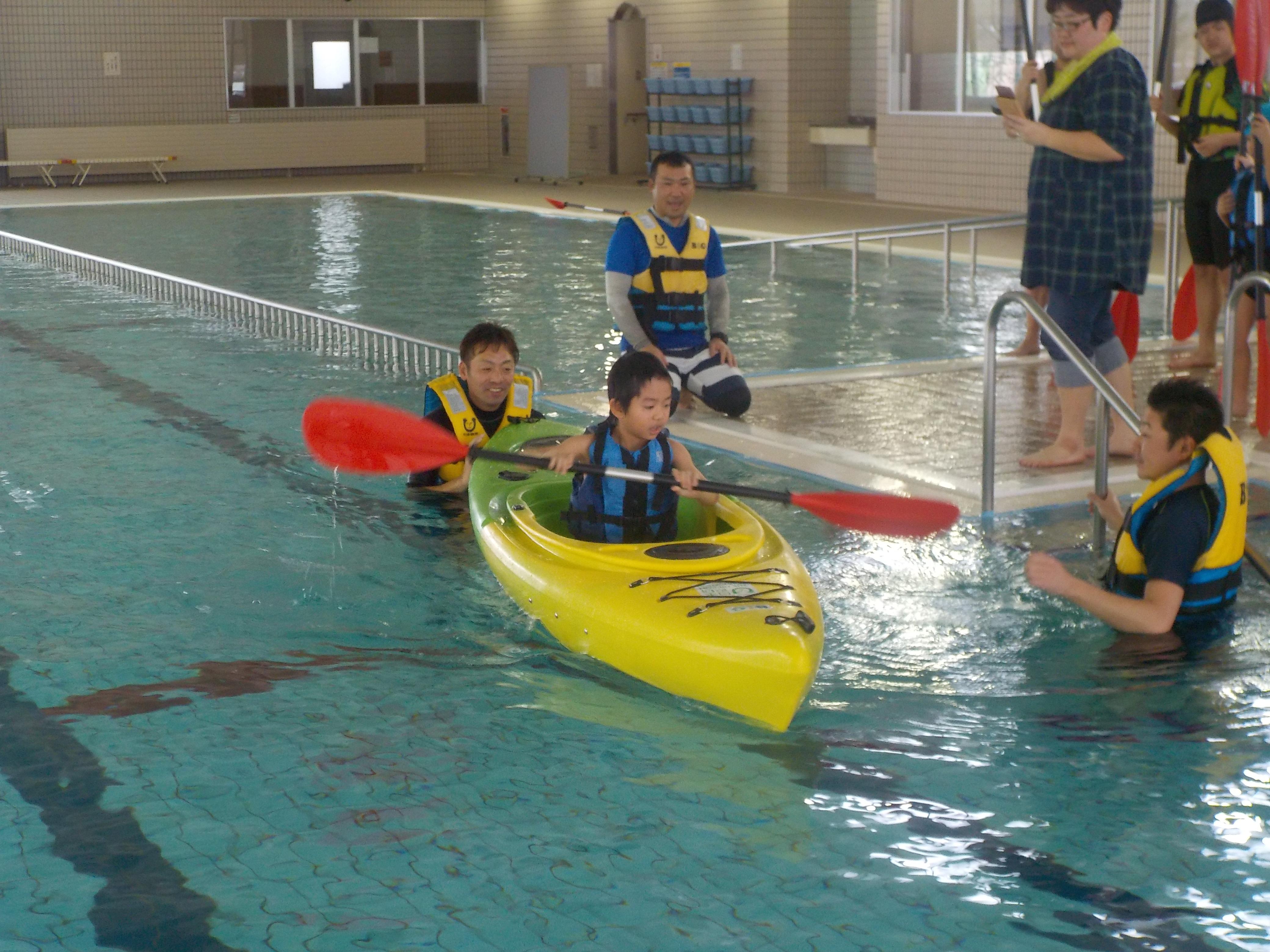 障害者を対象としたカヌー体験&水辺の安全教室