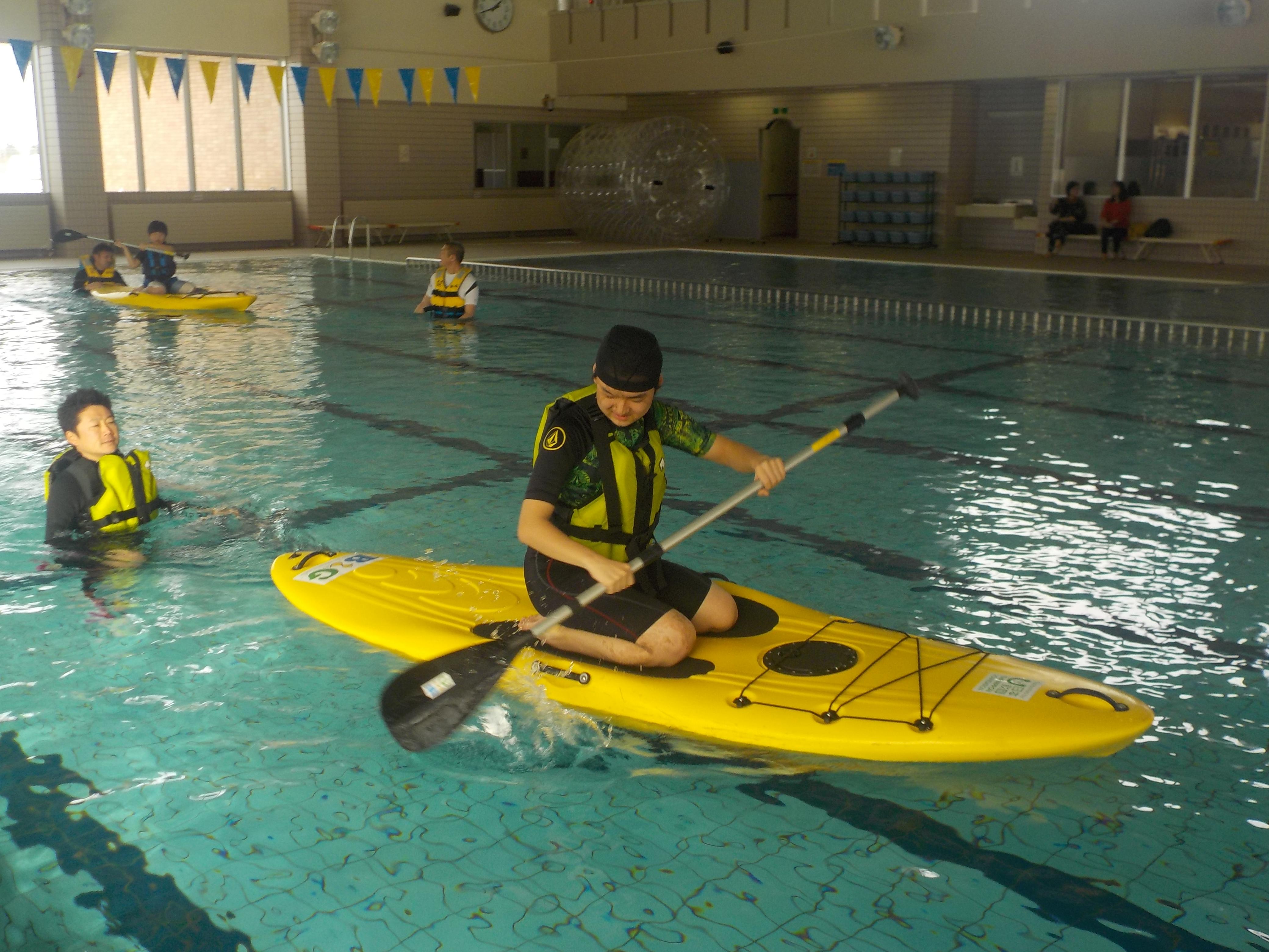 障がい者を対象としたウォータースポーツ体験&水辺の安全教室